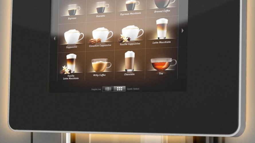 Franke Coffee Machines Touch Screen Display