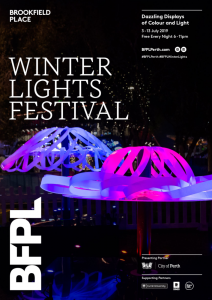 BrewHub Shine Sponsor for the Brookfield Place Winter Lights Festival 2019