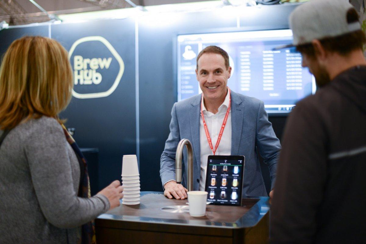 David Scott, Managing Director introducing BrewHub at DENFAIR Melbourne tradeshow